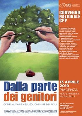 Locandina Convegno CPP Dalla parte dei genitori Aprile 2019 Piacenza web