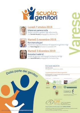Locandina Scuola Genitori Varese 2019