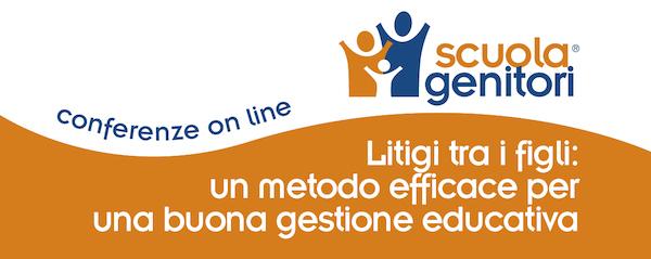 Litigi tra i figli - Conferenza online Scuola Genitori CPP