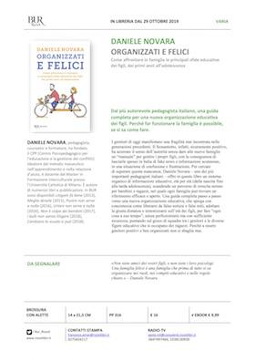 Scheda libro Organizzati e felici di Daniele Novara