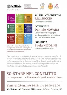 Recanati 29 marzo 2019 con Daniele Novara