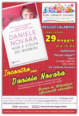 Locandina 29 maggio 2019 - Daniele Novara a Reggio Calabria
