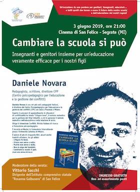 Daniele Novara a Segrate 3 giugno 2019