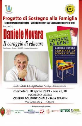Daniele Novara a Opera 10 aprile 2019