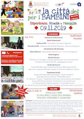 Locandina Convegno di Vigevano con Daniele Novara - 9 novembre 2019
