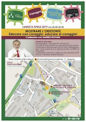 Educare con coraggio - Daniele Novara 8 aprile Bergamo