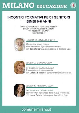Locandina incontri genitori CPP - Municipio 2 Milano 2019-2020