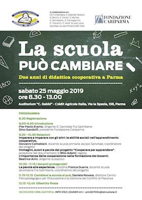 Locandina La scuola può cambiare - 25 maggio a Parma con Daniele Novara