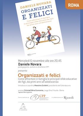 Presentazione del libro Organizzati e felici a Roma con Daniele Novara