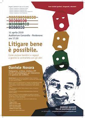 Locandina Daniele Novara a Pordenone - 11 aprile 2019