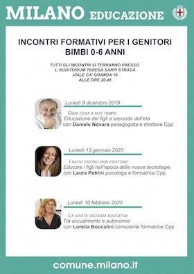 Locandina zona 9 incontri genitori 2019-2020