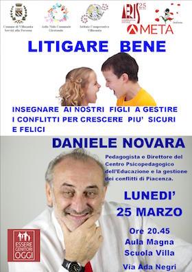 Locandina Daniele Novara a Villasanta (MB) - 25 marzo 2019