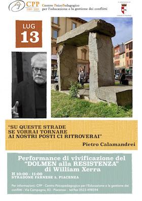 Locandina Dolmen della resistenza di Piacenza - 13 luglio 2019