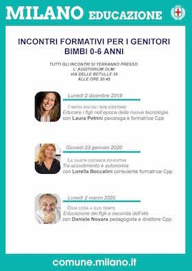 Locandina incontro genitori CPP - Zona 7 Milano