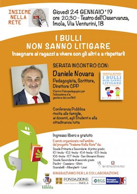Daniele Novara a Imola il 24 gennaio 2019