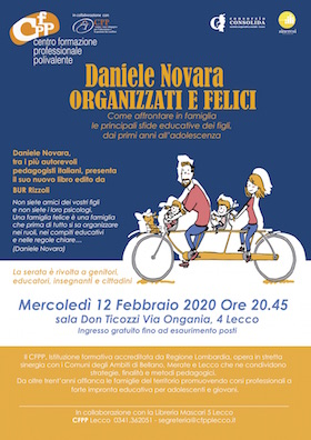 Organizzati e felici - Daniele Novara a Lecco 2020