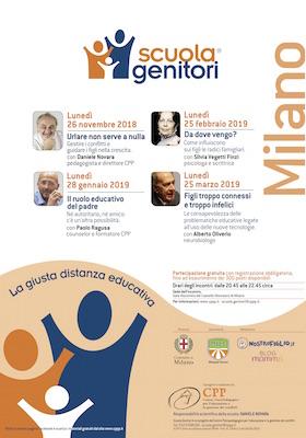 Locandina Scuola Genitori Milano 2018-2019