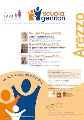 Locandina Scuola Genitori Arezzo 2019
