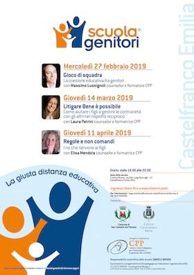 Locandina Scuola Genitori Castelfranco Emilia 2019 - CPP