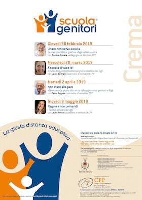 Locandina Scuola Genitori di Crema 2019