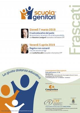 Locandina Scuola Genitori di Frascati 2019