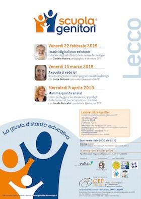 Locandina Scuola Genitori di Lecco 2019 - CPP