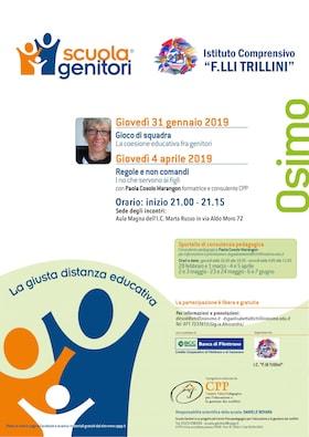 Locandina Scuola Genitori Osimo 2019