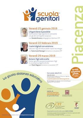 Locandina Scuola Genitori Piacenza 2019