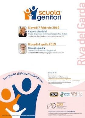 Locandina Scuola Genitori di Riva del Garda 2019