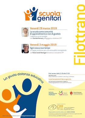 Locandina Scuola Genitori di Filottrano 2019