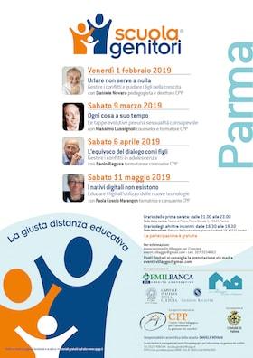 Locandina Scuola Genitori Parma 2019