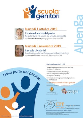 Locandina Scuola Genitori Albenga 2019