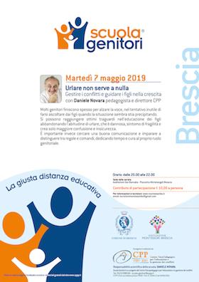 Locandina Scuola Genitori Brescia 2019