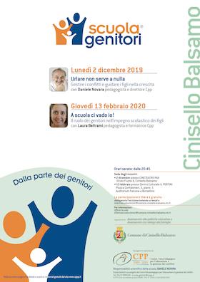 Locandina Scuola Genitori di Cinisello Balsamo 2019-2020