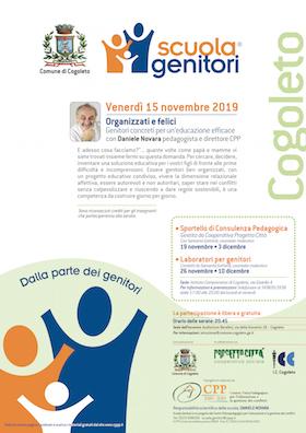 Locandina Scuola Genitori di Cogoleto - 15 novembre con Daniele Novara