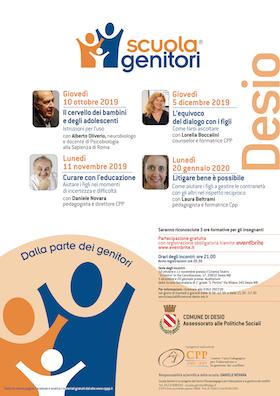 Locandina Scuola Genitori Desio 2019-2020