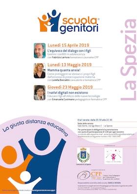Locandina Scuola Genitori La Spezia 2019