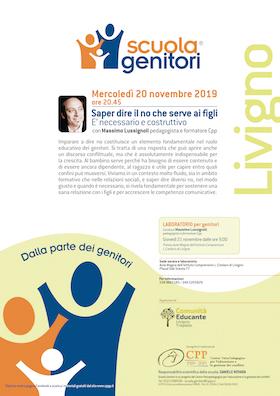 Locandina Scuola Genitori di Living 2019 - CPP