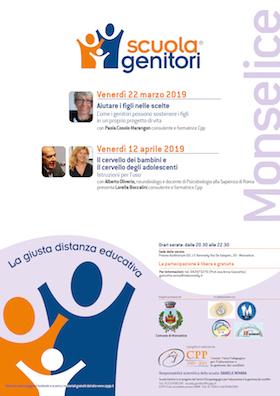 Locandina Scuola Genitori di Monselice 2019
