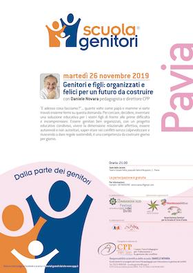 Locandina Scuola Genitori Pavia 2019