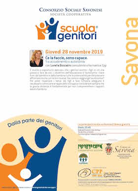 Locandina Scuola Genitori Savona 2019