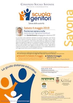 Locandina Scuola Genitori di Savona 2019