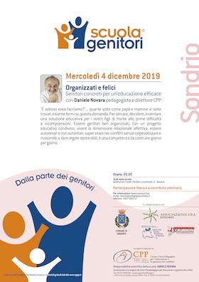 Locandina Scuola Genitori di Sondrio - Daniele Novara 4 dicembre 2019