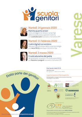 Locandina Scuola Genitori di Varese 2020