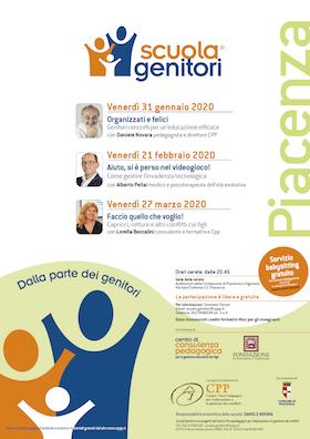 Locandina Scuola Genitori di Piacenza 2020