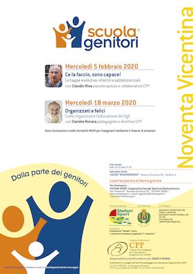 Locandina Scuola Genitori di Noventa Vicentina 2020