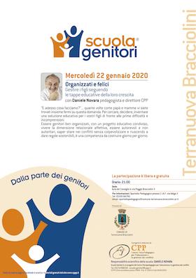 Locandina Scuola Genitori di Terranuova Bracciolini 2020