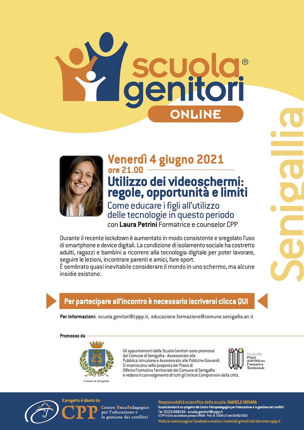 Scuola Genitori Senigallia 4 giugno 2021